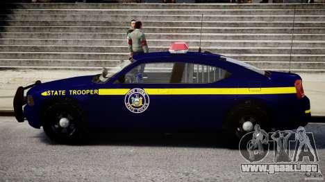 Dodge Charger NY State Trooper CHGR-V2.1M [ELS] para GTA 4 Vista posterior izquierda