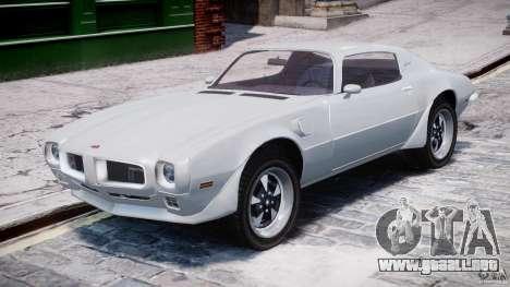 Pontiac Firebird Esprit 1971 para GTA 4 left