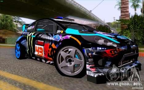 Ford Fiesta 2013 v2.0 para GTA San Andreas vista hacia atrás