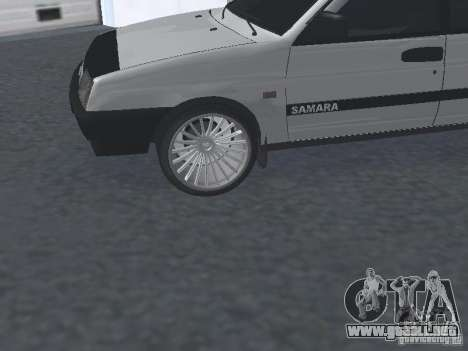 VAZ 2109 sintonizable para la visión correcta GTA San Andreas