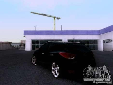 Hyundai ix35 para GTA San Andreas vista posterior izquierda