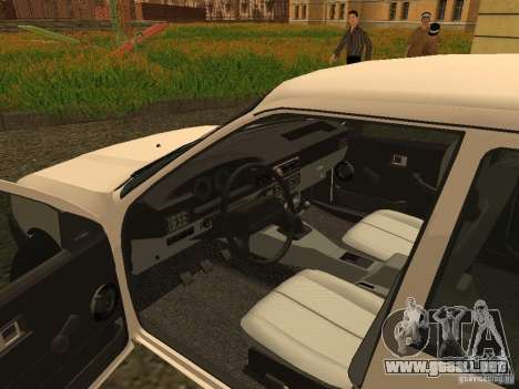IZH 2126 para GTA San Andreas vista hacia atrás