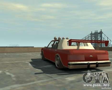 Greenwood sintonizado de San Andreas para GTA 4 Vista posterior izquierda