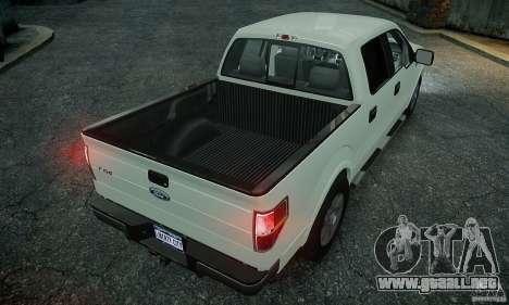 Ford F150 XLT v1.3 para GTA 4 Vista posterior izquierda