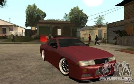 Elegy Modified para GTA San Andreas vista hacia atrás