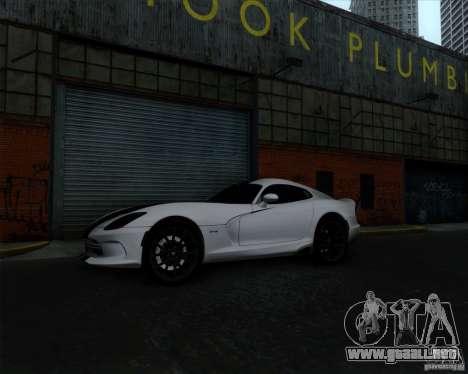 Dodge Viper SRT 2013 para visión interna GTA San Andreas