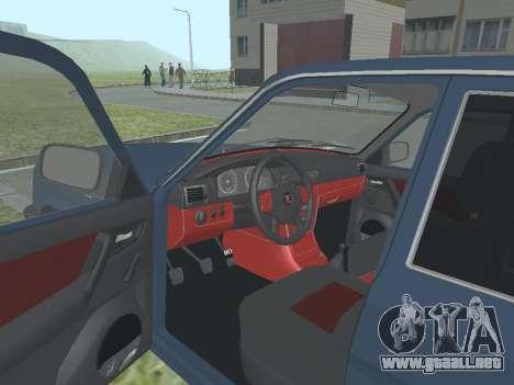 GAZ 3110 Volga v1.0 para GTA San Andreas vista hacia atrás