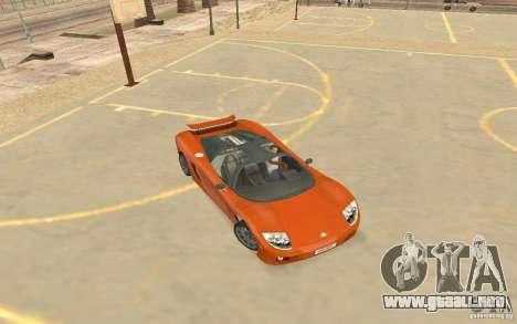 Veloche coche para GTA San Andreas vista posterior izquierda
