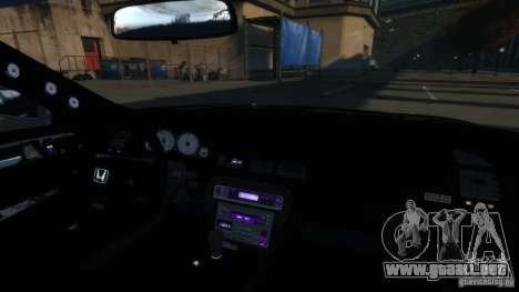 Honda Prelude SiR VERTICAL Lambo Door Kit Carbon para GTA 4 vista interior