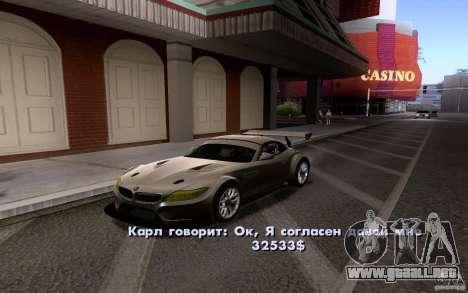 Autos clásicos en venta hacia fuera para GTA San Andreas tercera pantalla