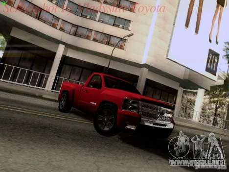 Chevrolet Cheyenne Single Cab para GTA San Andreas left