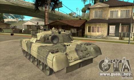T-80U MBT para GTA San Andreas vista hacia atrás