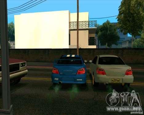 Subaru Impreza WRX STi Tunable para GTA San Andreas vista hacia atrás