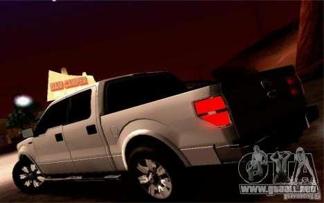 Ford Lobo 2012 para visión interna GTA San Andreas