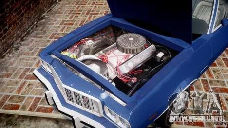 Ford Gran Torino 1975 para GTA 4 vista interior