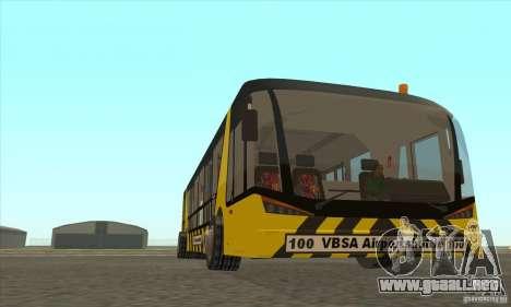 Autobús al aeropuerto para GTA San Andreas vista hacia atrás
