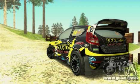 Ford Fiesta Rockstar Energy para GTA San Andreas left
