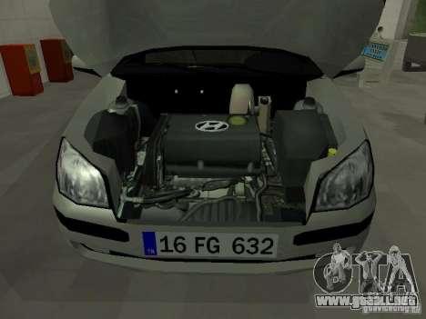 Hyundai Getz para visión interna GTA San Andreas