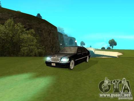 Mercedes-Benz 600 W140 para la visión correcta GTA San Andreas