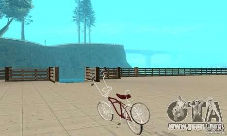 Low Rider Bike para GTA San Andreas vista posterior izquierda