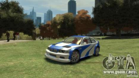 BMW M3 GTR NFS MOST WANTED para GTA 4