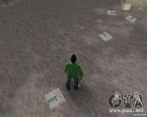 Agua nueva, periódicos, hojas, luna para GTA Vice City octavo de pantalla
