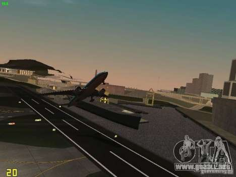 Boeing 777-200 KLM Royal Dutch Airlines para GTA San Andreas vista hacia atrás
