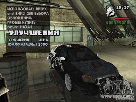 Subaru Impreza Wrx Sti 2002 para la visión correcta GTA San Andreas