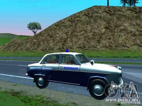 Moskvitch 403 con policía para la vista superior GTA San Andreas