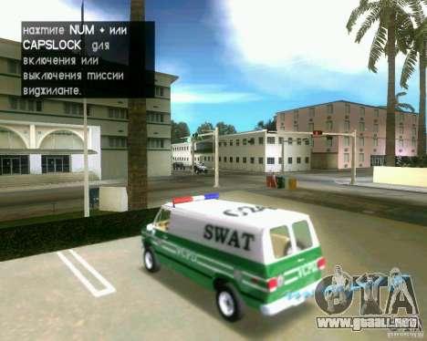 Chevrolet Van G20 para GTA Vice City vista lateral izquierdo