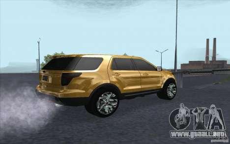 Ford Explorer Limited 2013 para la visión correcta GTA San Andreas