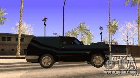 Sandking EX V8 Turbo para GTA San Andreas vista posterior izquierda