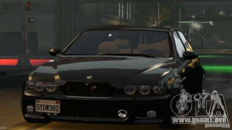 BMW M5 E39 BBC v1.0 para GTA 4 vista superior
