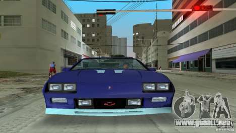Chevrolet Camaro Convertible 1986 para GTA Vice City vista lateral izquierdo