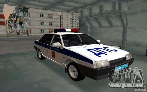 Vaz 21099, policía para GTA San Andreas
