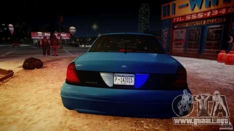Ford Crown Victoria Detective v4.7 [ELS] para GTA 4 vista desde abajo