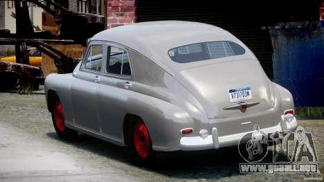 GAS M20V ganando americano 1955 v1.0 para GTA 4 Vista posterior izquierda