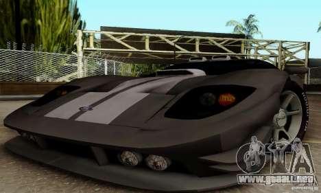 Ford GT Tuning para GTA San Andreas vista hacia atrás
