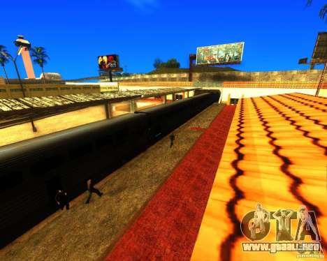 Una bulliciosa estación de tren en Los Santos para GTA San Andreas segunda pantalla