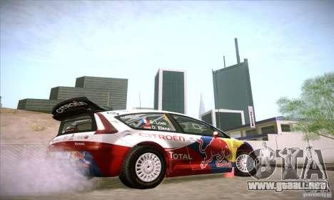 Citroen C4 WRC para GTA San Andreas vista hacia atrás