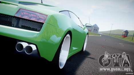 Lamborghini Gallardo LP 560-4 DUB Style para GTA 4 vista hacia atrás