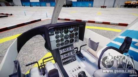 Bell 206 B - Chicago Police Helicopter para GTA 4 visión correcta