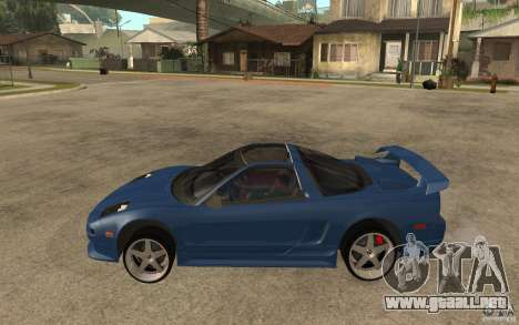 Honda NSX 1991 jc2 para GTA San Andreas left