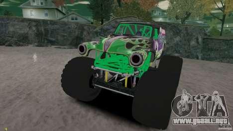 Grave digger para GTA 4 vista lateral