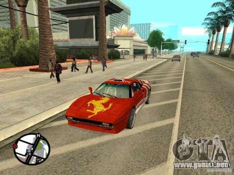 Ferrari 288 Gto para GTA San Andreas vista posterior izquierda
