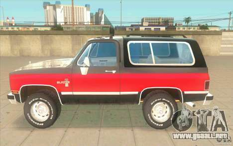Chevrolet Blazer K5 Stock 1986 para GTA San Andreas left