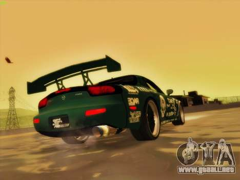 Mazda RX7 rEACT para vista inferior GTA San Andreas