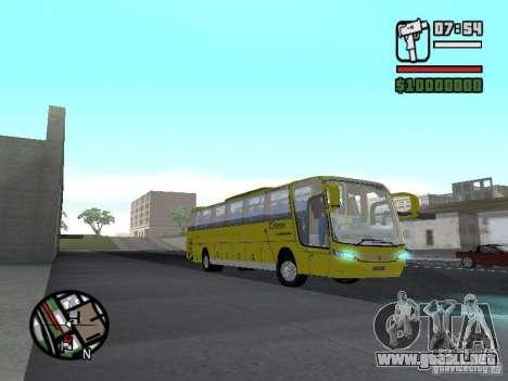 Busscar Vissta Bus para GTA San Andreas vista hacia atrás
