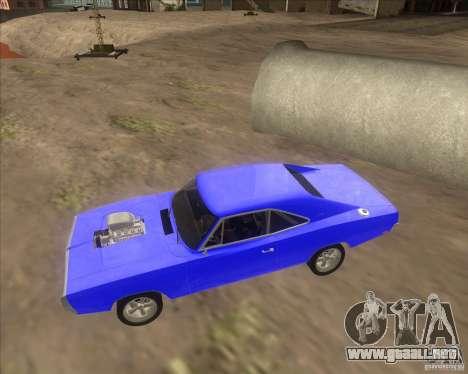 Dodge Charger RT 1970 The Fast and The Furious para GTA San Andreas vista hacia atrás