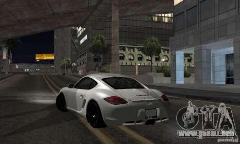 Porsche Cayman R para GTA San Andreas left